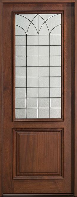 Classic Mahogany Wood Front Door - Single - DB-101T CST