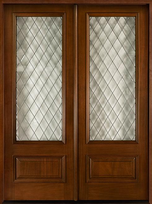 Diamond Mahogany Wood Front Door - Double - DB-101 DD  CST