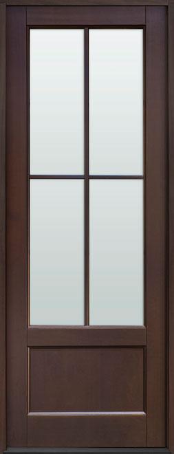 Classic Mahogany Wood Front Door - Single - DB-104PT CST