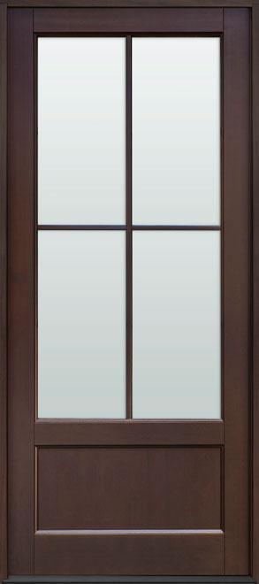 Classic Mahogany Wood Front Door - Single - DB-104PW CST