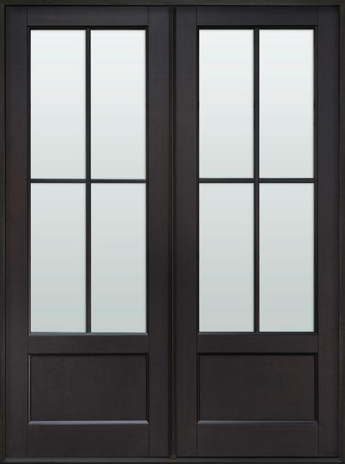 Classic Mahogany Wood Front Door - Double - DB-104P DD CST