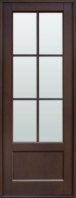 Classic Mahogany Wood Front Door - Single - DB-106PT CST
