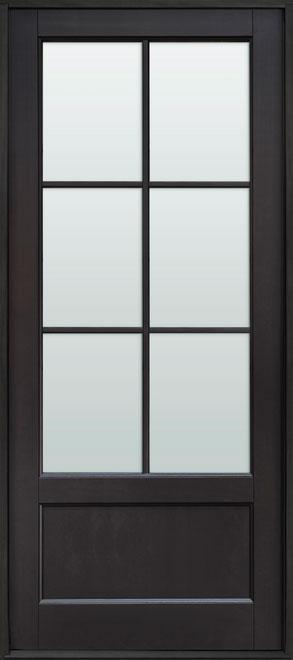 Classic Mahogany Wood Front Door - Single - DB-106PW CST