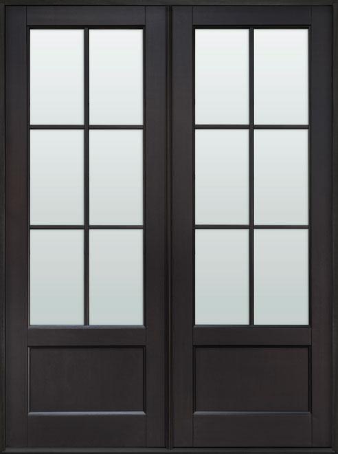 Classic Mahogany Wood Front Door - Double - DB-106P DD CST