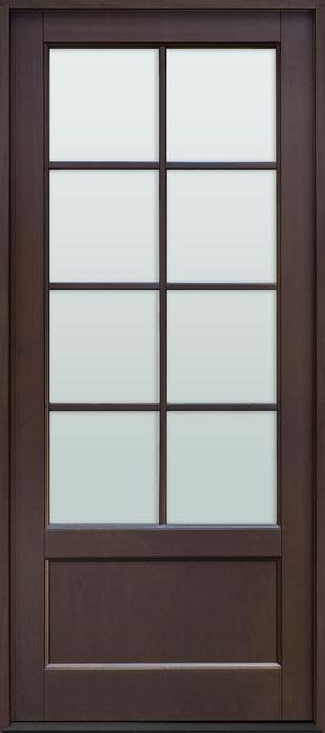 Classic Mahogany Wood Front Door - Single - DB-108PW CST