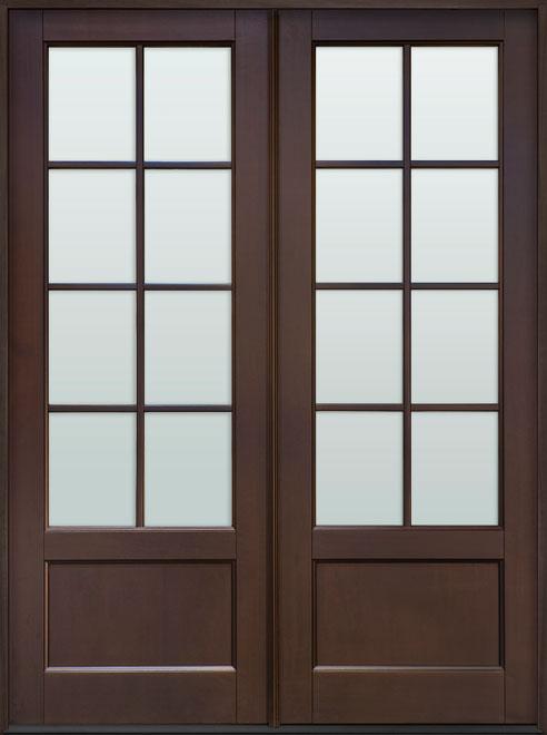 Classic Mahogany Wood Front Door - Double - DB-108P DD CST