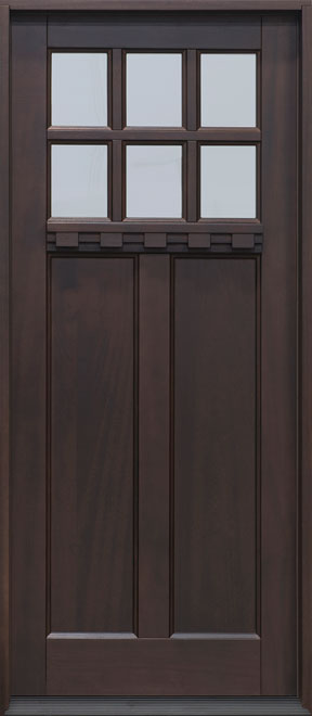 Craftsman Mahogany Wood Front Door - Single - DB-112PS CST