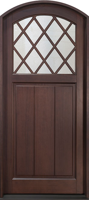 Classic Mahogany Wood Front Door - Single - DB-112PW CST