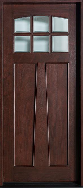 Classic Mahogany Wood Front Door - Single - DB-112W CST