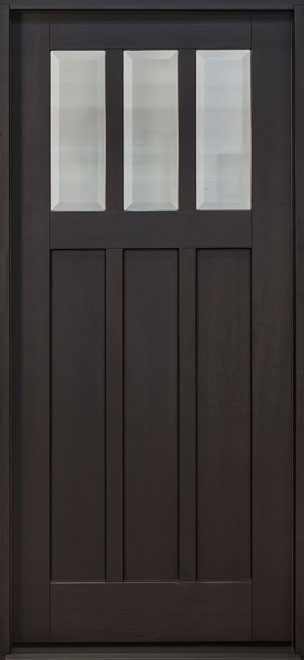 Craftsman Mahogany Wood Front Door - Single - DB-114PS CST