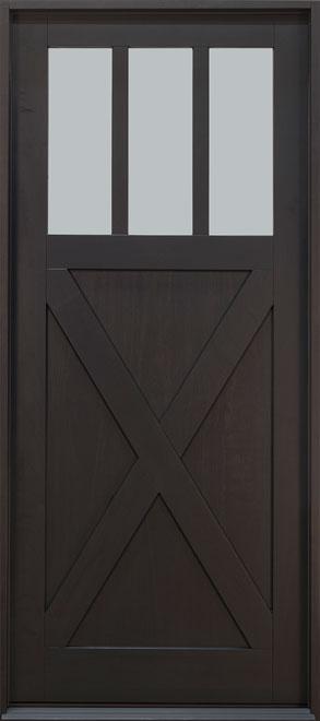 Classic Mahogany Wood Front Door - Single - DB-114PW CST