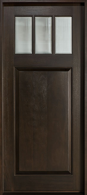 Classic Mahogany Wood Front Door - Single - DB-114W CST