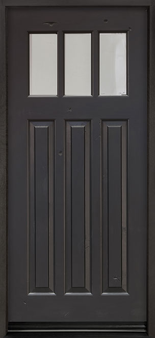 Classic Distressed in Knotty Alder Wood Front Door - Single - DB-115 CST