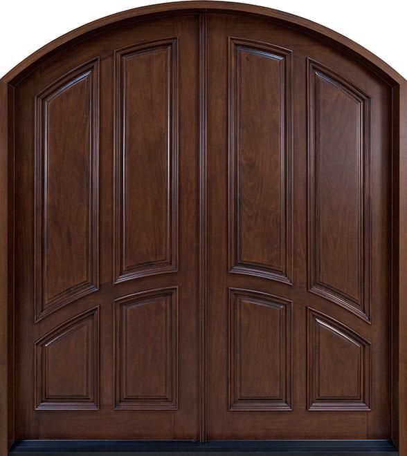 Classic Mahogany Wood Front Door - Double - DB-152 DD CST