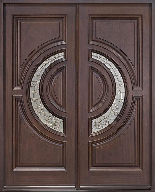Classic Mahogany Wood Front Door - Double - DB-186 DD CST