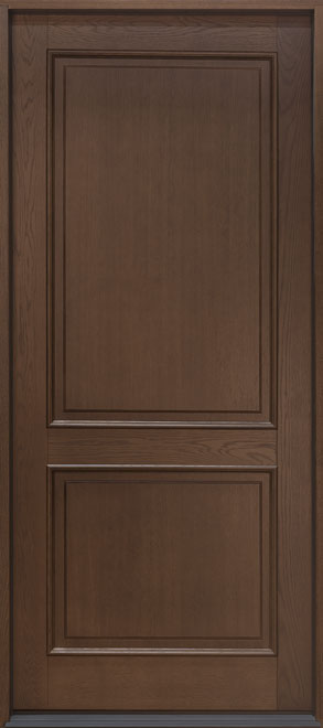 Classic Oak Wood Veneer Wood Front Door - Single - DB-202PW CST