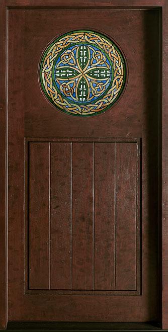 Craftsman Mahogany Wood Front Door - Single - DB-211C CST