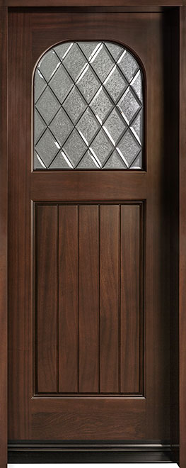 Diamond Mahogany Wood Front Door - Single - DB-211DG CST