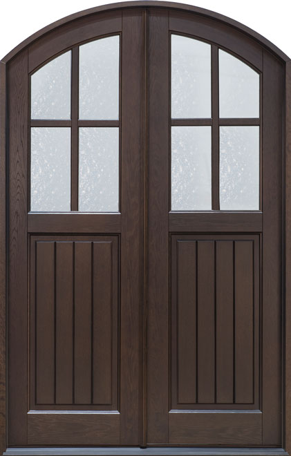 Classic Rift-Cut Oak Wood Front Door - Double - DB-211P DD CST