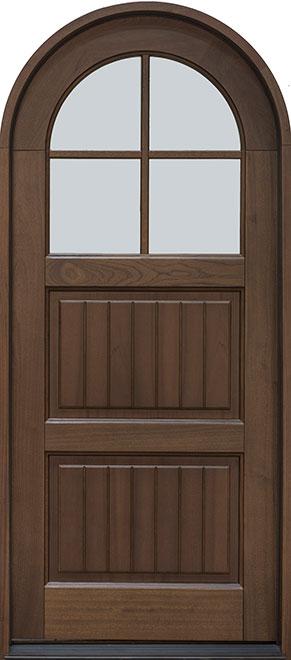 Classic Mahogany Wood Front Door - Single - DB-245PR SDL  CST