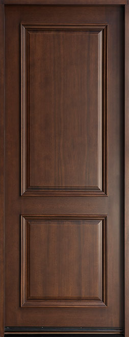 Classic Mahogany Wood Front Door - Single - DB-301T CST