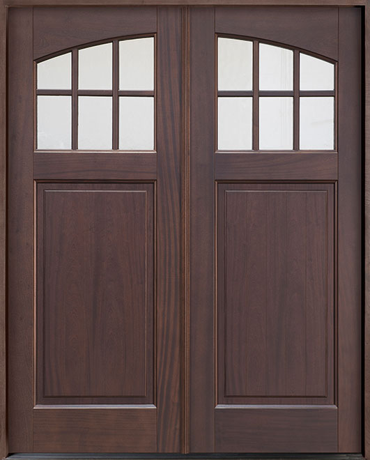 Classic Mahogany Wood Front Door - Double - DB-311PS DD CST
