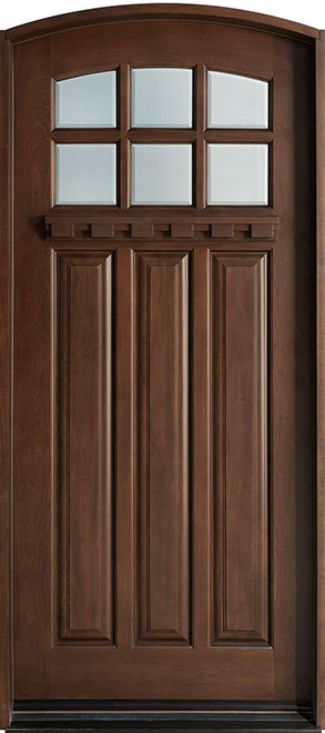 Craftsman Cherry Wood Front Door - Single - DB-311R CST