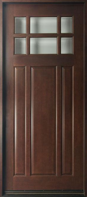 Classic Mahogany Wood Front Door - Single - DB-311W CST