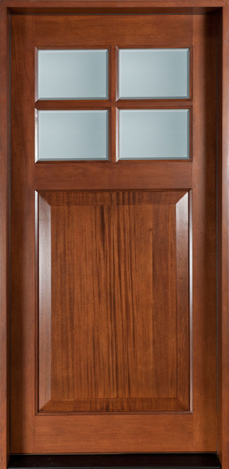 Classic Mahogany Wood Front Door - Single - DB-311 CST