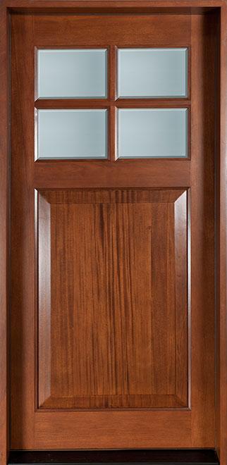 Classic Mahogany Wood Front Door - Single - DB-311 CST