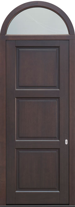 Classic Mahogany Wood Front Door - Single  w/ Transom - DB-314PW TR CST