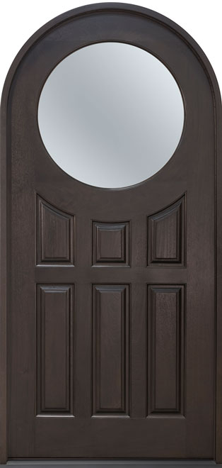 Classic Mahogany Wood Front Door - Single - DB-395C CST