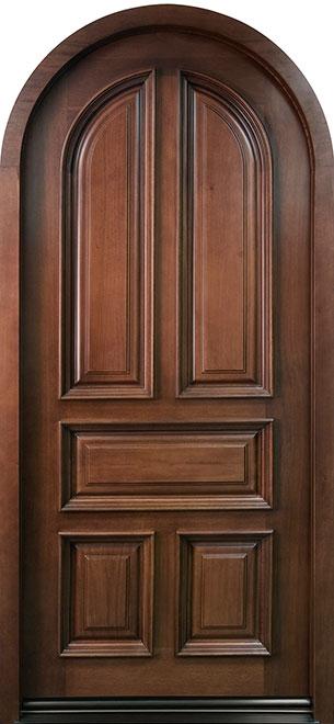 Classic Mahogany Wood Front Door - Single - DB-395W  CST