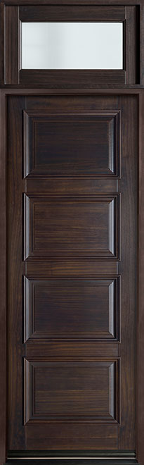 Classic Mahogany Wood Front Door - Single - DB-4000PT TR-EN3 CST