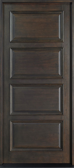 Classic Mahogany Wood Front Door - Single - DB-4000 CST