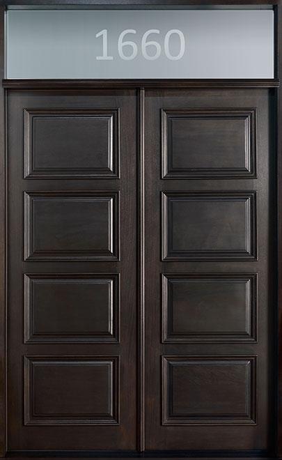 Classic Mahogany Wood Front Door - Double - DB-4000 DD TR CST