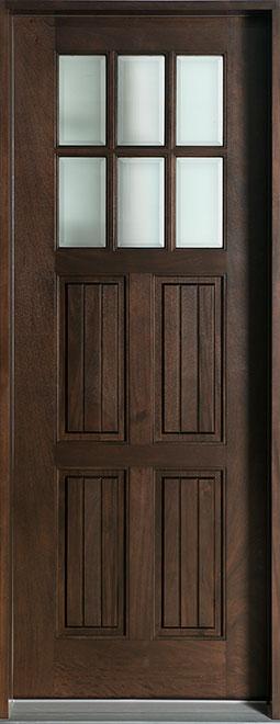 Classic Mahogany Wood Front Door - Single - DB-411T CST