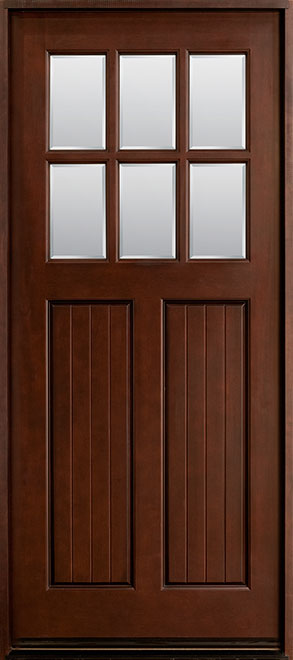 Classic Mahogany Wood Front Door - Single - DB-411W CST