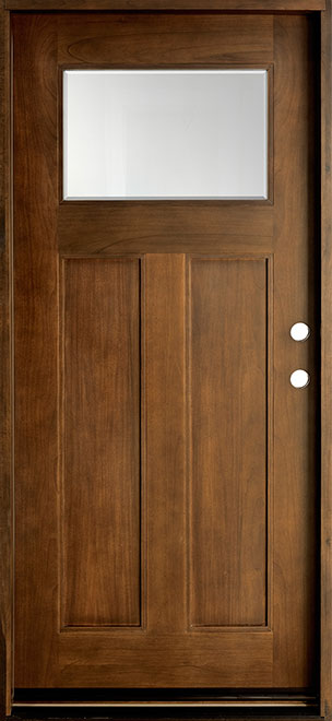 Classic Mahogany Wood Front Door - Single - DB-413 CST