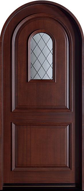 Diamond Mahogany Wood Front Door - Single - DB-445DG CST