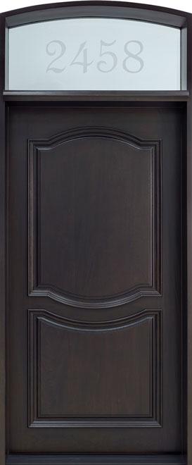 Classic Mahogany Wood Front Door - Single - DB-461W CST