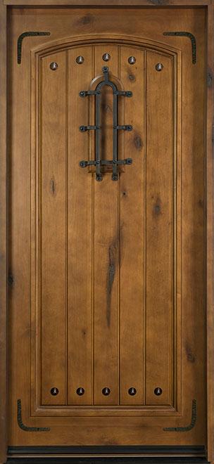 Rustic Knotty Alder Wood Front Door - Single - DB-501SE  CST