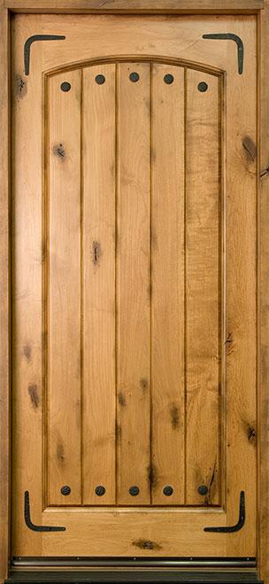 Rustic Knotty Alder Wood Front Door - Single - DB-501 CST