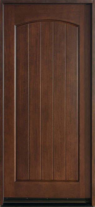Classic Mahogany Wood Front Door - Single - DB-501  CST