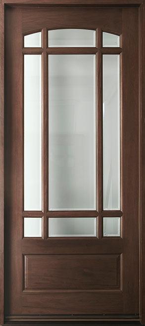Classic Mahogany Wood Front Door - Single - DB-511W CST