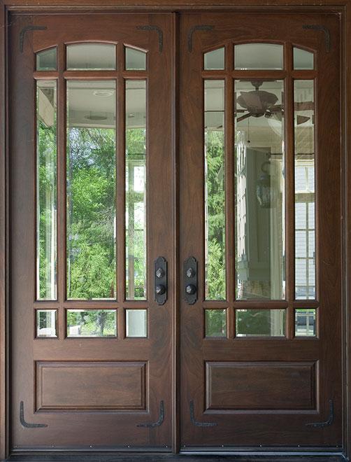 Classic Mahogany Wood Front Door - Double - DB-511 DD CST