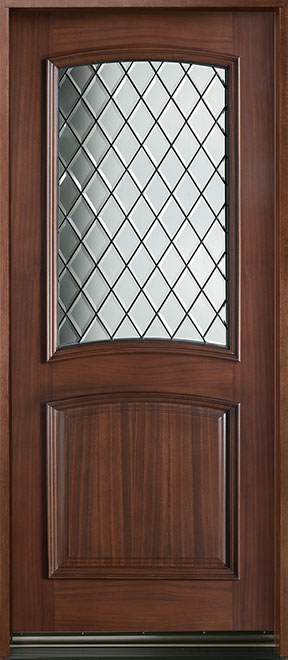 Diamond Mahogany Wood Front Door - Single - DB-552 DG CST