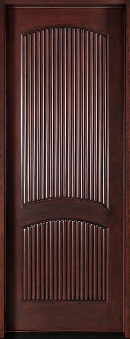 Modern Mahogany Wood Front Door - Single - DB-580A CST