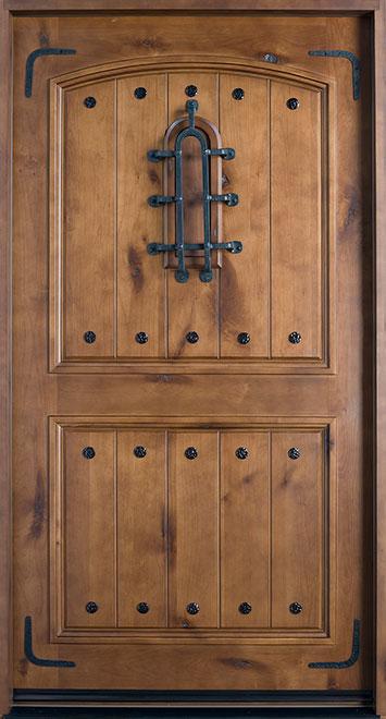 Rustic Knotty Alder Wood Front Door - Single - DB-601W  CST
