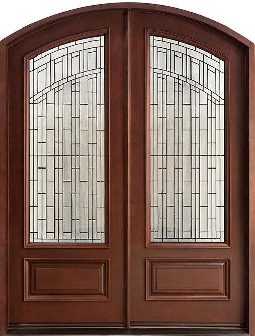 Classic Mahogany Wood Front Door - Double - DB-606 DD CST